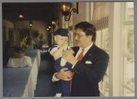 Dan Barrett and son [photograph, front]