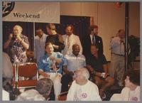 Warren Vache, Major Holley, Jack Sheldon, Gus Johnson, Butch Miles, Alan Dawson and Jeff Hamilton [photograph, front]