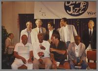 Ray Brown, Joe Williams Jack Sheldon, Milt Hinton, Ralph Sutton, Kenny Davern, Chuck Wilson, Howard Alden, Mike Wofford, John Clayton and Fred Karlin [photograph, front]