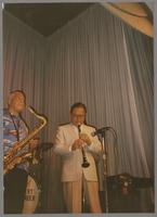 Harold Ashby and Dick Johnson [photograph, front]