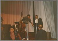 Doc Cheatham, John Clayton and Jay McShann [photograph, front]