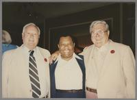Dick Gibson, Jay McShann and Milt Fillius Jr. [photograph, front]