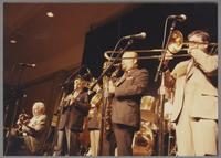 Herb Ellis, Kenny Davern, Glenn Zottola, Red Holoway and Dan Barrett [photograph, front]
