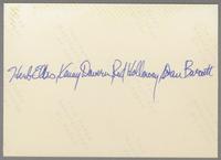 Herb Ellis, Kenny Davern, Glenn Zottola, Red Holoway and Dan Barrett [photograph, back]