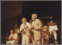 Bucky Pizzarelli, Bob Wilbur and Benny Carter [photograph, front]