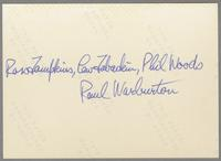 Ross Tompskins, Lew Tabackin, Phil Woods and Paul Warburton [photograph, back]