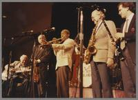 Herb Ellis, Johnny Frigo, Joe Wilder, Bob Cooper and Ken Peplowski [photograph, front]