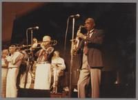 Harold Ashby, Joe Newman, Benny Powell, Burt Dahlander and Curtis Peagler [photograph, front]