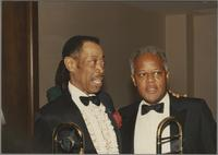 Al Grey and Slide Hampton [photograph, front]
