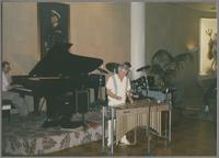 Terry Gibbs and unknown pianist [photograph, front]