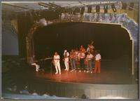 Flip Phillips and band performing on stage [photograph, front]