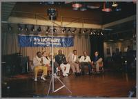 Milt Hinton, Ralph Sutton, Joe Williams, Jay McShann, Gus Johnson and Jiggs Whigam [photograph, front]