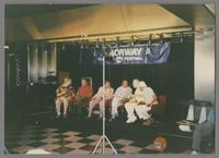 Alan Dawson, Clark Terry, Al Grey and three unknown others [photograph, front]