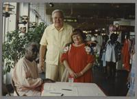 Joe Williams and Milt and Betty Fillius [photograph, front]