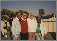 Gus Johnson, Ralph Sutton, Milt Fillius Jr. and Milt Hinton [photograph, front]