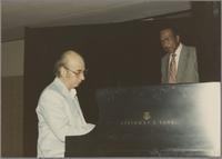Dick Hyman and Gus Johnson [photograph, front]
