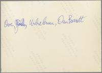 Doc Cheatham, Red Holloway, Urbie Green and Dan Barrett [photograph, back]