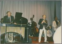 Peter Appleyard, Major Holly, Bob Wilber and Plas Johnson [photograph, front]