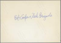 Joe Temperley and Bob Cooper [photograph, back]