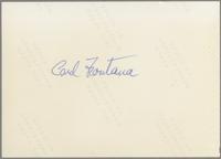 Carl Fontana [photograph, back]