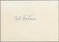 Carl Fontana [photograph, back]