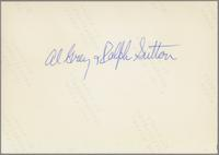 Al Grey and Ralph Sutton [photograph, back]