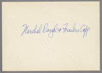 Marshall Royal and Frankie Capp [photograph, back]