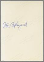 Peter Appleyard [photograph, back]