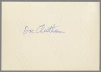 Doc Cheatham [photograph, back]