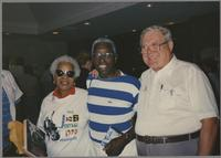 Mona Hinton, Joe Williams and Milt Fillius Jr. [photograph, front]
