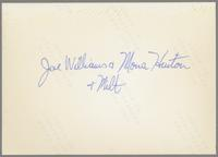 Mona Hinton, Joe Williams and Milt Fillius Jr. [photograph, back]