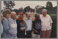 Elsa Davern, Flip Phillips, Mona Hinton, Kenny Davern, Milt Hinton and Milt Fillius Jr. [photograph, front]