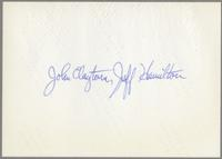 John Clayton and Jeff Hamilton [photograph, back]