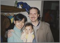 Scott Hamilton, Manami Iimura Hamilton and baby [photograph, front]