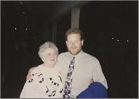 Jeff Hamilton and mother [photograph, front]