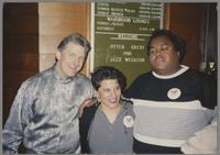 Bill Mays, unknown woman and Ray Drummond [photograph, front]