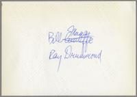 Bill Mays, unknown woman and Ray Drummond [photograph, back]