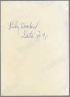 Rickey Woodard [photograph, back]
