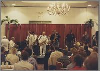 Kenny Davern, Scott Hamilton, Rickey Woodard, Red Holloway, Jeff Clayton, George Bohanon, Warren Vache and James Morrison [photograph, front]