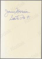 James Morrison [photograph, back]