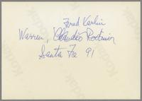 Warren Vache and Fred Karlin [photograph, back]