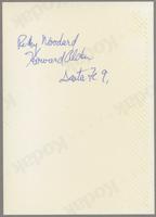 Rickey Woodard and Howard Alden [photograph, back]