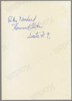 Rickey Woodard and Howard Alden [photograph, back]
