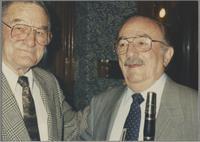 Ralph Sutton and Phil Bodner [photograph, front]