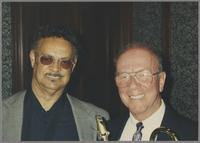 Plas Johnson and George Masso [photograph, front]