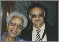 Mona Hinton and Plas Johnson [photograph, front]