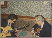Howard Alden and Bucky Pizzarelli [photograph, front]