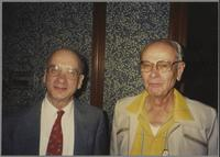 Dick Hyman and unknown man [photograph, front]