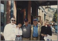 Kenny Davern, unknown couple, Bucky Pizzarelli and Elsa Davern [photograph, front]