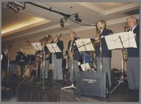 Johnny Varro Swing Seven: Johnny Varro, Frank De La Rosa, Bob Enevoldsen, Jack Trott, John Bambridge, and Dick Hafer [photograph, front]